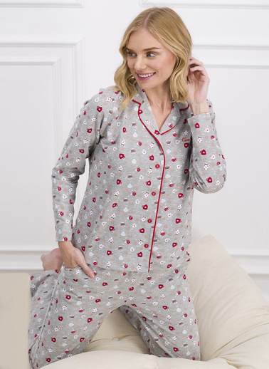 Pierre Cardin Pijama Takım Gri
